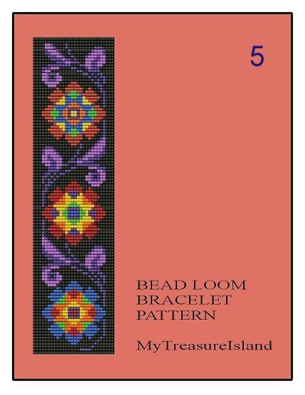 For sale are Bead Loom Bead Loom Vintage Floral Border 5, Bead Loom Vintage Floral Border 6 and Bead Loom Vintage Floral Border 7 Multi-Color Bracelets Patterns in PDF format. Price for any 1 pattern is 5.00$. Please, choose the Pattern number at the pull down menu or let me know