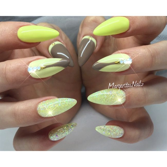 Yellow Nails - Nail Art Gallery