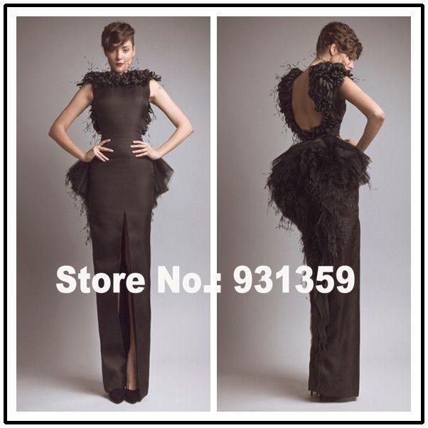 Высокое Качество Спинки Средний Ил Сшитое Арабский Вечернее Платье Vestido Де Феста Дизайн ED92520 Длинное Черное Вечернее Платье
