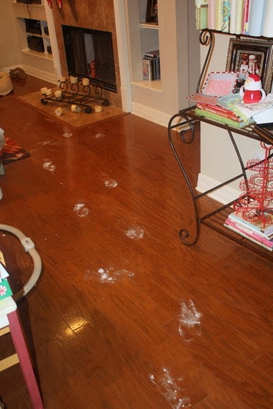 santa claus left footprints!