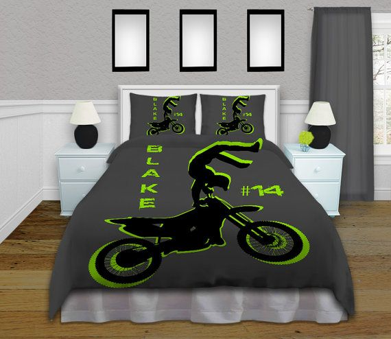 Motocross Bedding, Can even Personalize it with a Name and Racing Number