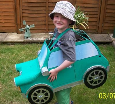 Homemade Car Costume: We decided to make our son a homemade car costume for his schools fancy dress competition as he loves cars and wouldnt really want to be anything else,