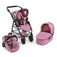 "3 in 1 Kombi Puppenwagen ""EMOTION ALL IN"", Jeans Pink"
