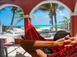 Your+Dreams+already+live+here:+Prestine+Beaches,+Hammocks+Palmtrees+Margaritas..++++-+Beachfront++Hacienda+del+Cuyo+*German+Owner*+Vw+Bug+rental,+Eco+ParkVacation Rental in Yucatan from @homeaway! #vacation #rental #travel #homeaway