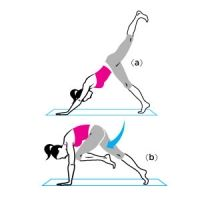 Muscle-Sculpting Yoga Move: Down-Dog Split with Knee Drives