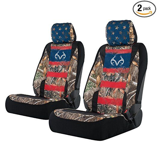 Realtree Lowback Seat Cover Realtree Edge Americana Pair Truck Accessories Hunting Truck Realtree Camo Seat Covers