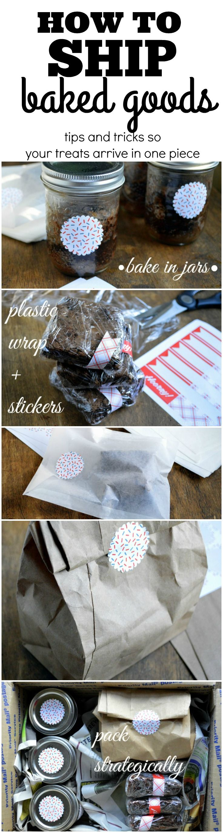 Super easy tips on How to Ship Baked Goods including money-saving postage options, and wrapping to keep your treats fresh and in tact!