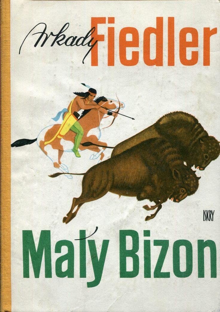 """""""Mały Bizon"""" Arkady Fiedler Cover by Mieczysław Kowalczyk and Stanisław Rozwadowski Illustrated by Mieczysław Majewski Published by Wydawnictwo Iskry 1963"""