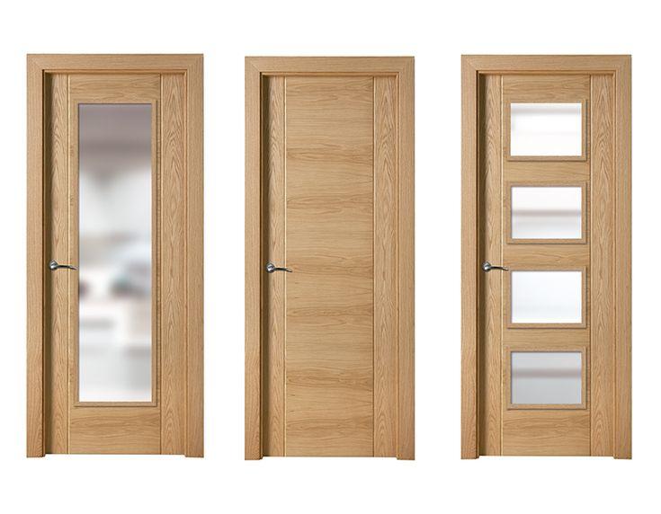 17 best images about madera clara puertas de interior on for Puertas batientes interior