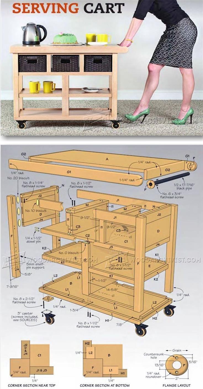 Serving Cart Plans - Furniture Plans and Projects | WoodArchivist.com