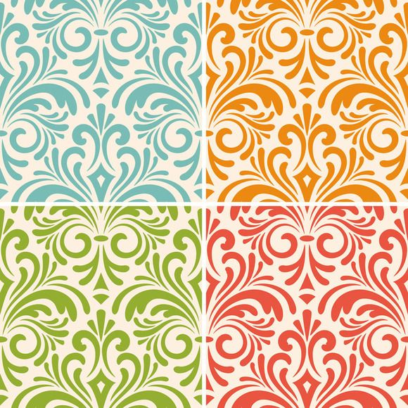 vector seamless floral vintage patte - Patterns