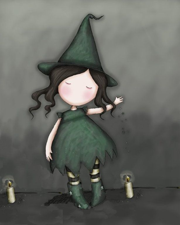 Samhain Witch by Suzanne Woolcott