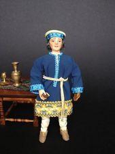 1:12+dolls+doll house+miniature+bambole+case di bambola+medioevo+nobile+