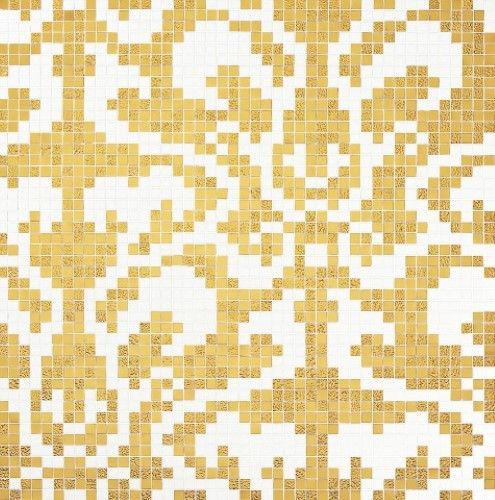 #Bisazza #Decori 2x2 cm Damasco Oro Giallo | #Oro su vetro | su #casaebagno.it a 1728 Euro/collo | #mosaico #bagno #cucina