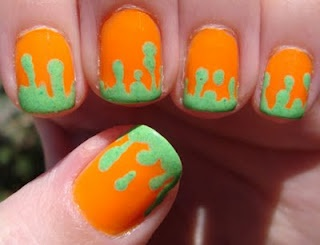 90s Nickelodeon nail art!!!!!! This is AWESOME!