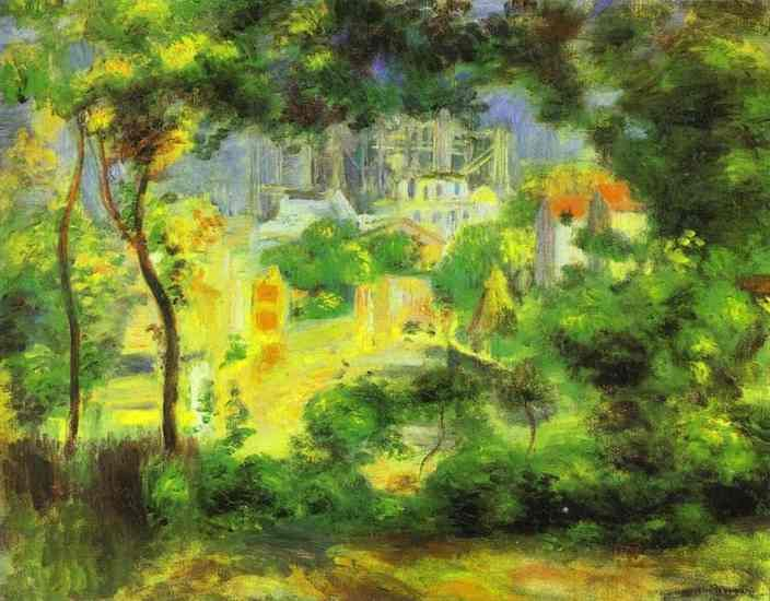 Pierre-Auguste Renoir - View of the New Building of the Sacre-Ceur. Пьер Огюст Ренуар