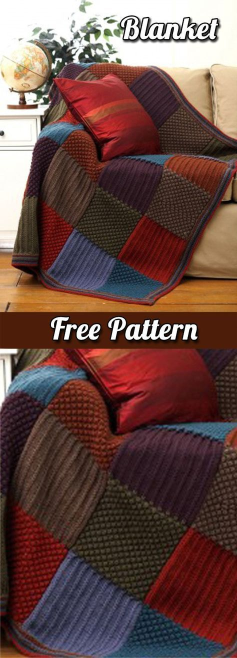 Blanket: Patchwork style crochet with squares (Free Pattern PDF)   Blanket   Free Pattern   Blanket Tips   Crafts   DIY   Free Tutorial   Step by Step   Tips