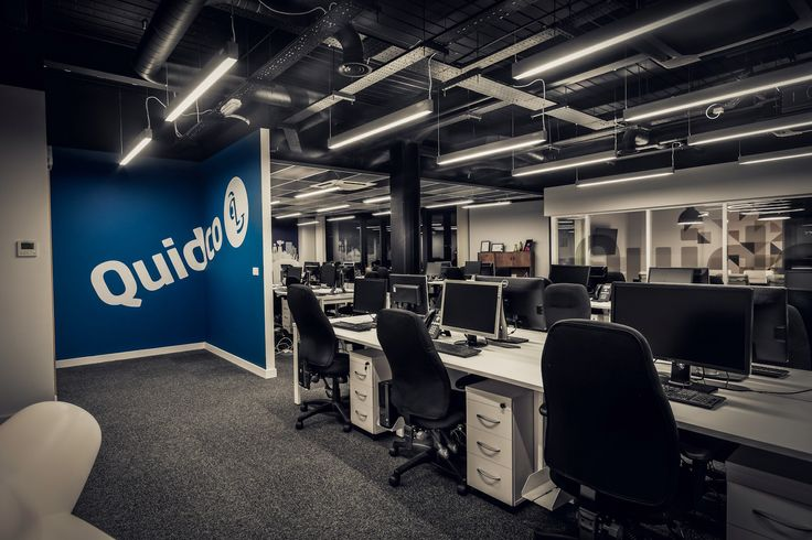 Quidco Office Entry With Custom Wall Graphics Interior Design