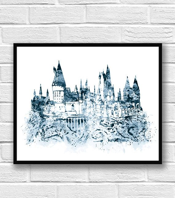 die besten 25 hogwarts schloss ideen auf pinterest harry potter schloss hogwarts painting. Black Bedroom Furniture Sets. Home Design Ideas