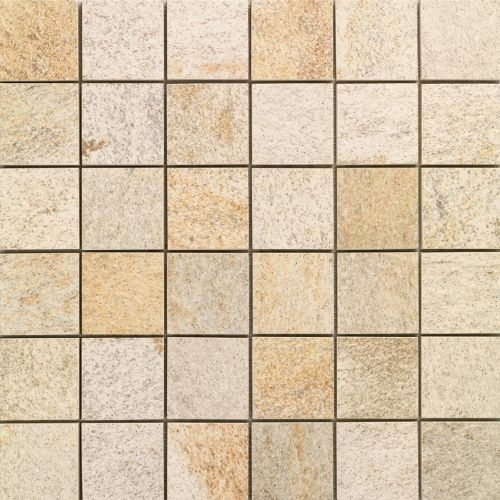 Quartzite Dorada - Italian glazed porcelain mosaic tile suitable for walls and floors.