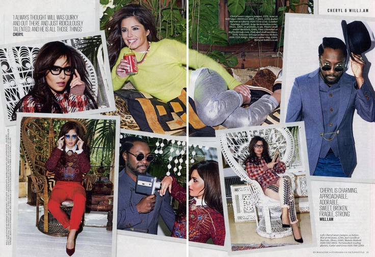 @Cheryl45fgcole @standardnews Will.I.Am and Cheryl Cole wear Cutler and Gross in the Evening Standard magazine