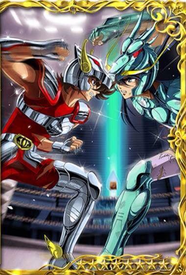 Seiya vs Shiryu / Pegaso frente Dragón / Cdz