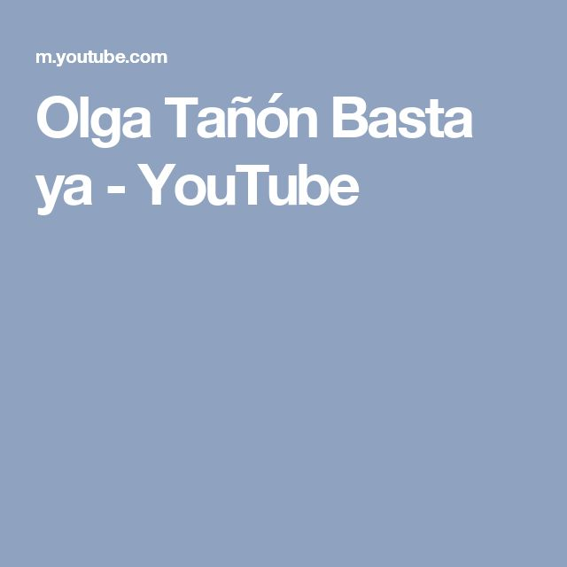 Olga Tañón Basta ya - YouTube