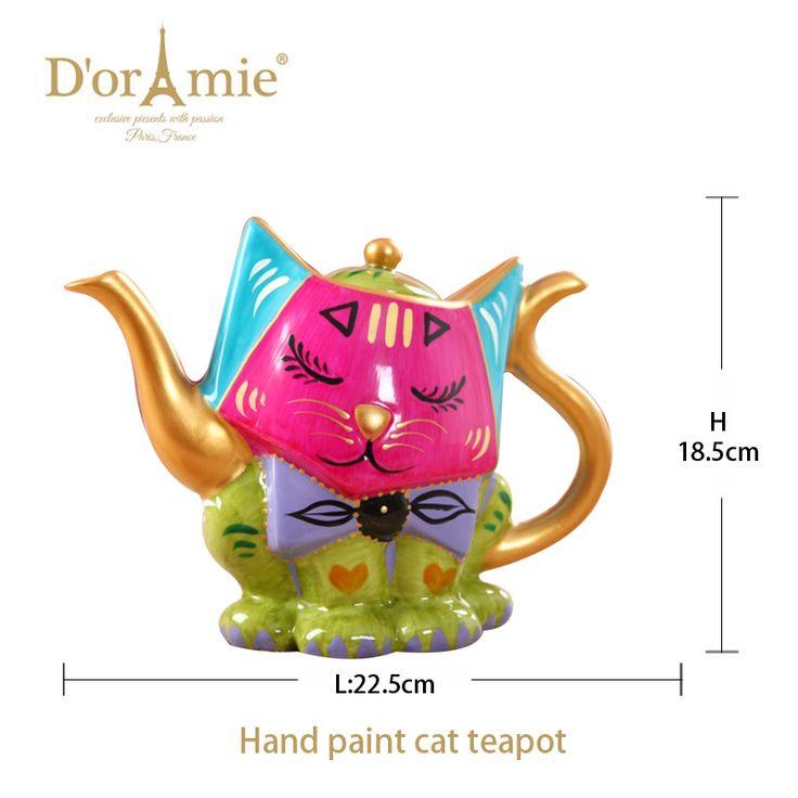 hot selling 2017 amazon cat tea pot, new premium ceramic teapot, suit for gift for thanks