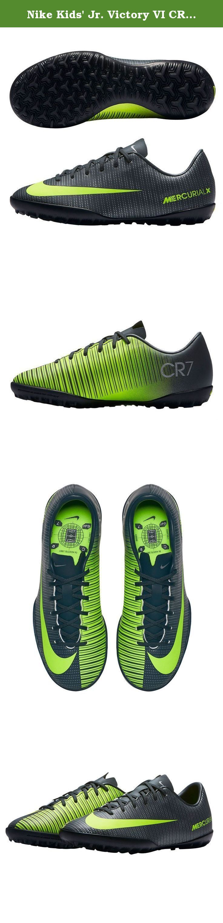 Nike Kids' Jr. Victory VI CR TF Turf Soccer Cleats (Sz. 5) Seaweed. Cristiano Ronaldo style Mercurial Victory Turf for kids.