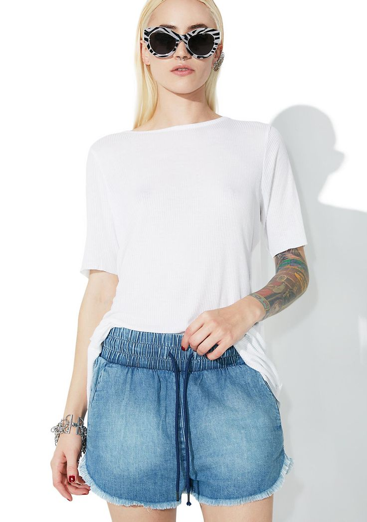 Cheap Monday Flow Light Blue Shorts