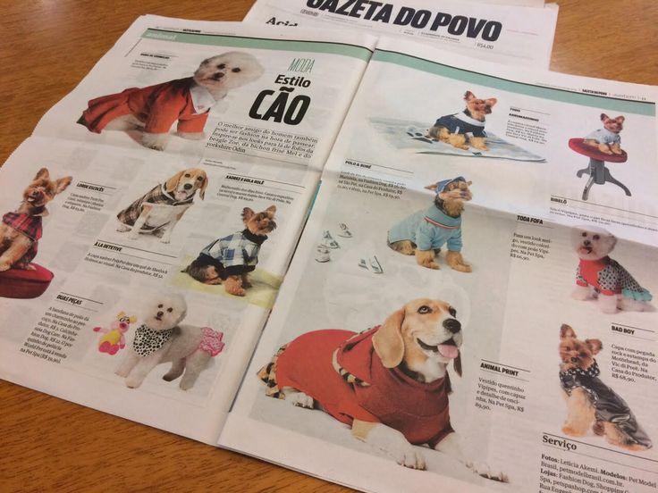 Pet modelos da PMB no caderno Viver Bem da Gazeta do Povo
