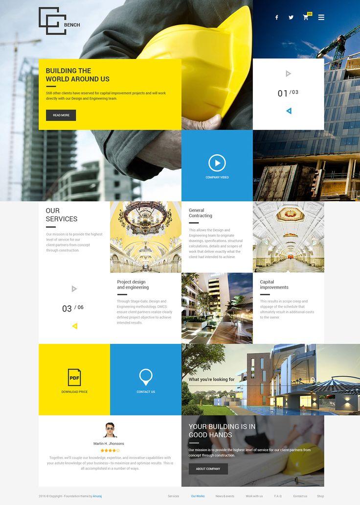 Website design templates on Behance