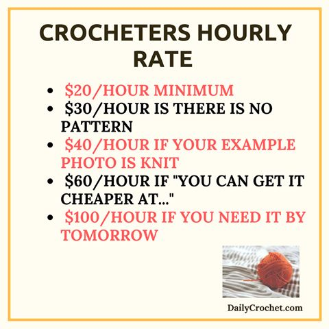 Saw this in Pinterest, and I thought it summed up my feelings as a crocheter for commissions, perfectly.   I do try to be fair, when setting prices. It's basically, twice the cost of materials(yarn can be $3-5 for a small skein of worsted weight yarn, and $6-10 or more, for thicker and unique yarn, such as Fun Fur, or Bernat Blanket, which I'm in love with). Plus half, for my time and experience. Most of my projects are out of love. For family members and friends.   Please keep this in mind…