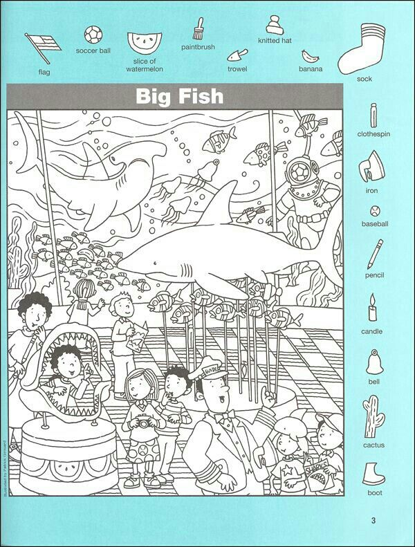 110 best images about hidden pictures on pinterest the for Big fish printing