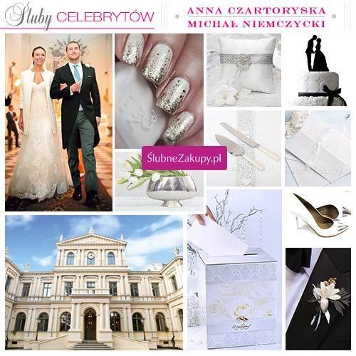 Śluby celebrytów: Anna Czartoryska i Michał Niemczycki. #slub #wesele #sklepslubny