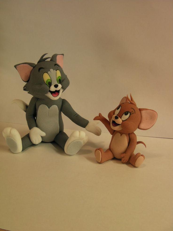 """Studio """"FONDANT DESIGN ANA"""" - Figurice za torte (fondant figures): TOM AND JERRY SHOW"""