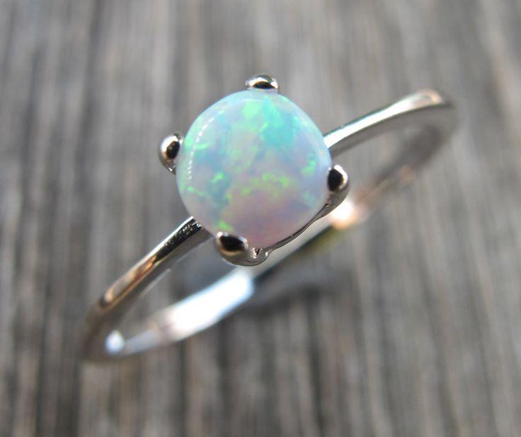 Opal Ring- Silver Opal Ring-Silver Ring- Stone Ring- Rings- White Stone Rings-Gemstone Rings- Gifts for Her by Belesas on Etsy https://www.etsy.com/listing/177260582/opal-ring-silver-opal-ring-silver-ring