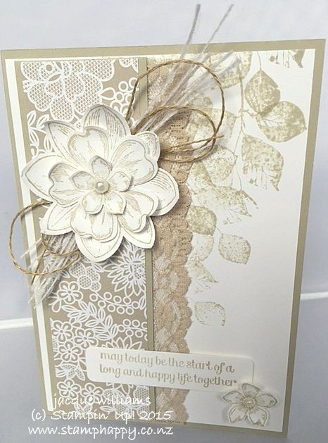 Stampin up kinda eclectic something borrowed wedding card