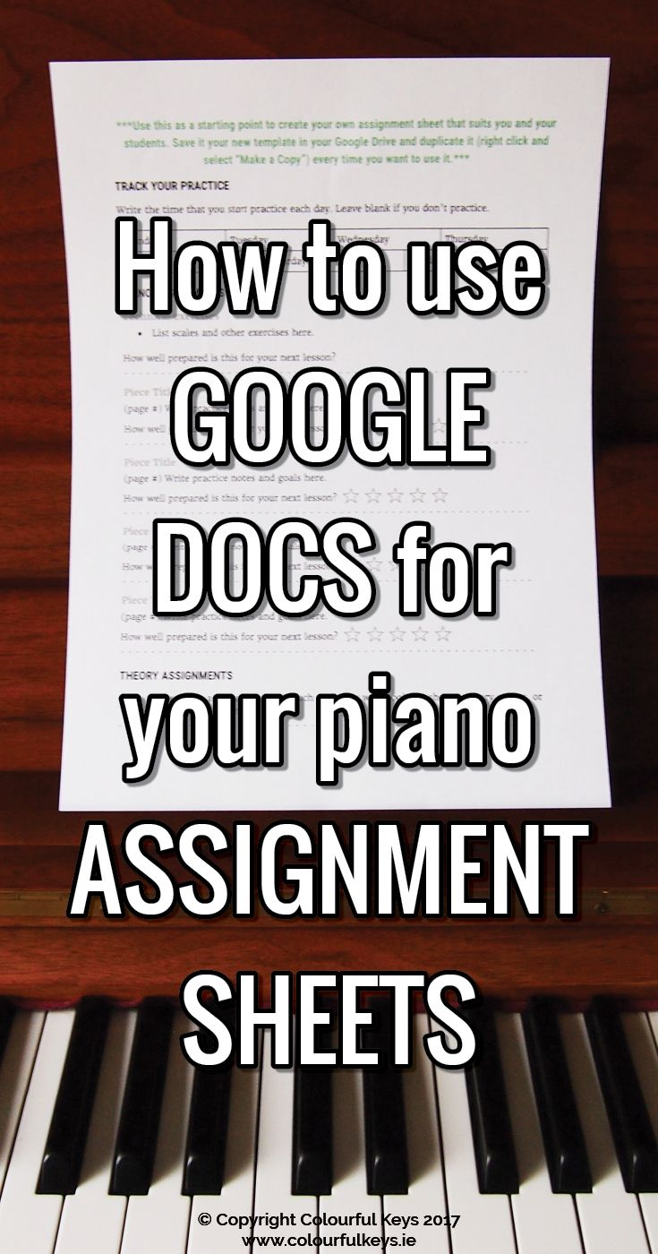 Assigning In Advance Piano Homework And Lesson Plan All In One