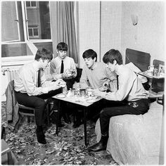 #OTD #1963, Tuesday - Photographer Dezo Hoffman takes photos of the band in his studio and at many London locations for his `A Day In The Life Of The Beatles' shoot.  Photos © Apple Corps Ltd
