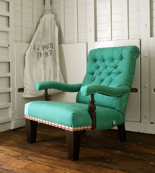 nice color, nice shape.  look at the visual weight carried in the front legs--a little masculine.  always seem to be drawn to tufting in furniture