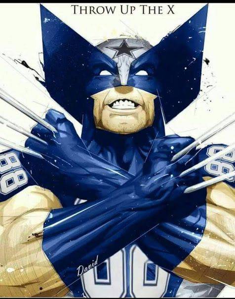 Throw up the X! Wolverine Dez Bryant Dallas Cowboys ✭ America's Team ✭ join the hottest sports app today FireFan with code 9087