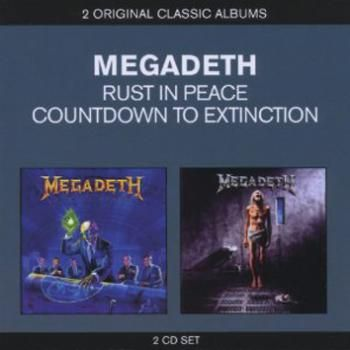 "Gli album dei #Megadeth intitolato ""Rust in Peace"" e ""Countdown To Extinction""."