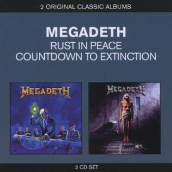 """Gli album dei #Megadeth intitolato """"Rust in Peace"""" e """"Countdown To Extinction""""."""