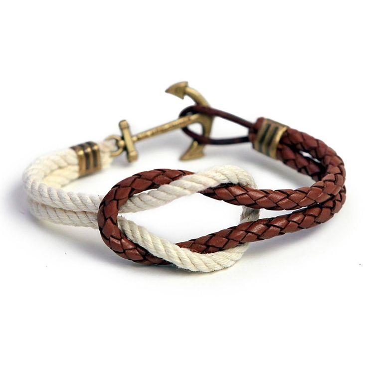 Kiel James Patrick  Leightons Leather Rope Bracelet    £45.00
