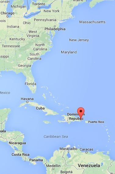 MAP Punta Cana Dominican Republic