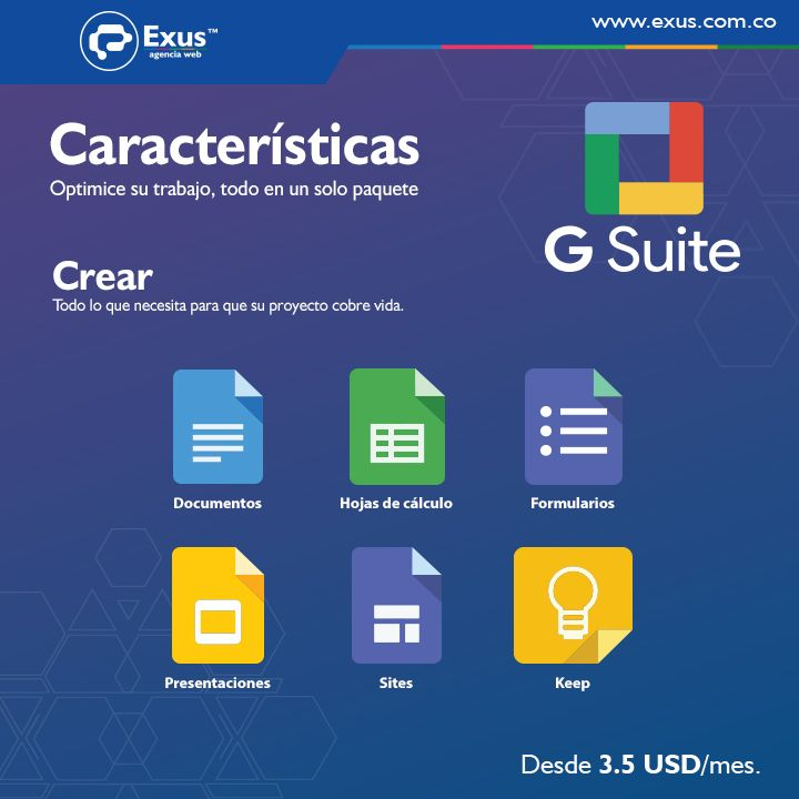 Cree edite y comparta documentos desde sus dispositivos iPhone iPad o Android. #Exus #Gsuite #ExusApps https://exus.cf/2fMJftH