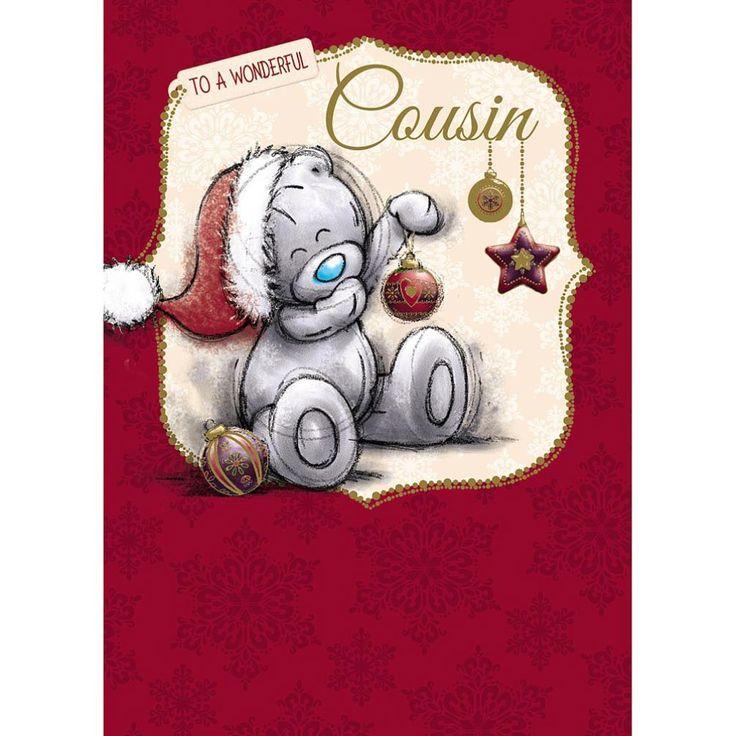 Wonderful Cousin Me to You Bear Christmas Card £1.79