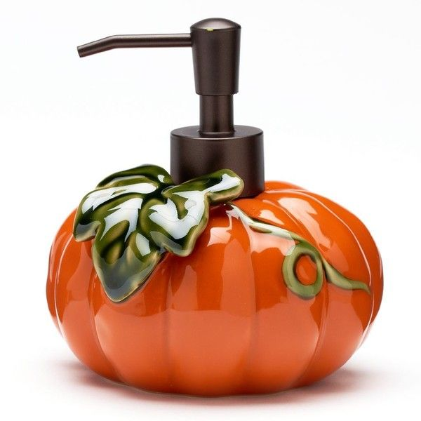 harvest pumpkin soap pump orange 68925 idr liked on polyvore featuring home