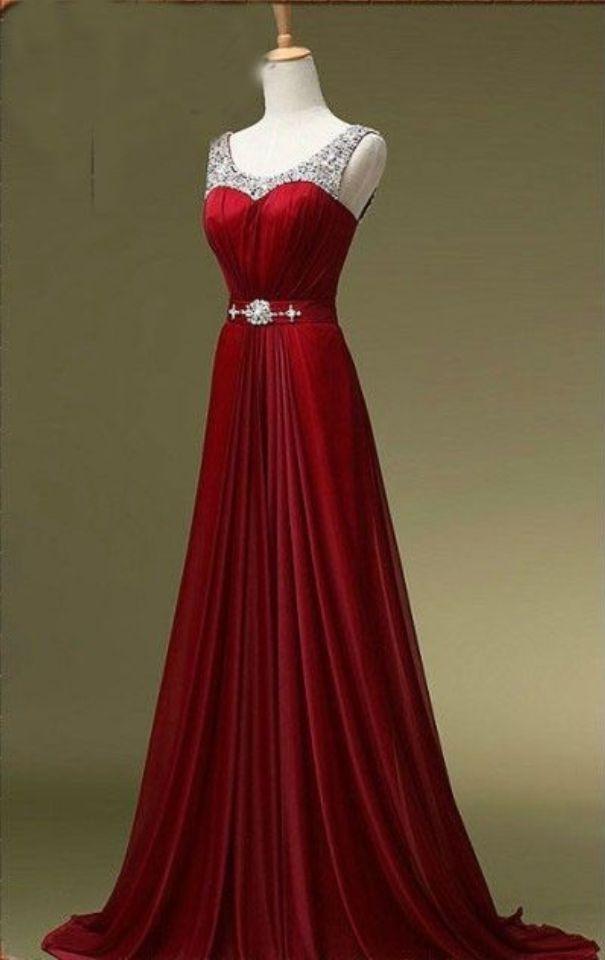 Red Prom Dress,Discount Prom Dress,Custom Prom Dress,Beaded Prom